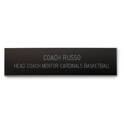2 x 8 Black Plastic Name Bar