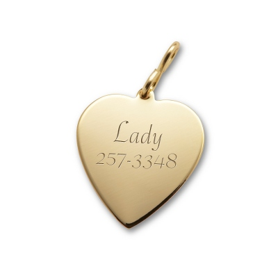 SMALL GOLD HEART - Pet Tags & Gifts