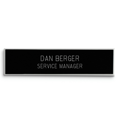 5/8 X 2 5/8 Black Plastic Name Badge - Engraving Plates & Name Badges