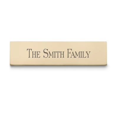 "1/2"" x 2"" Brass Plate - Engraving Plates & Name Badges"