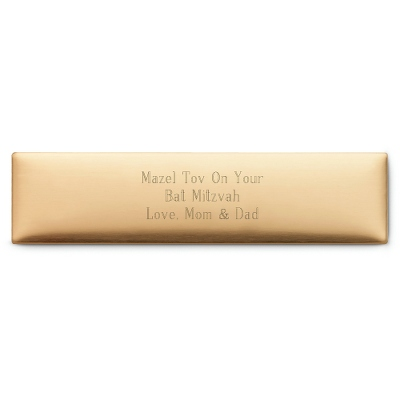 "3/4"" x 3"" Brass Plate - Engraving Plates & Name Badges"