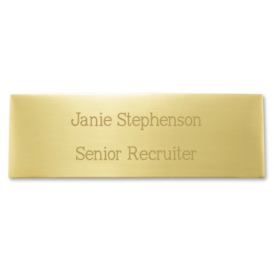 "1"" x 3"" Brass Plate - Engraving Plates & Name Badges"