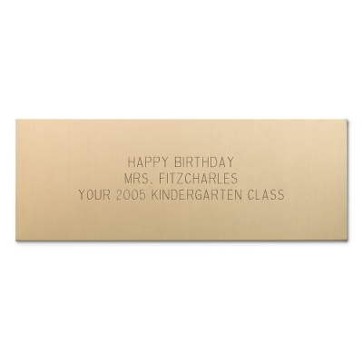 1 1/2 X 4 Brass Plate - Engraving Plates & Name Badges