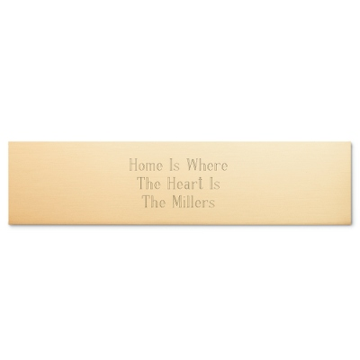 2 x 8 Brass Name Bar