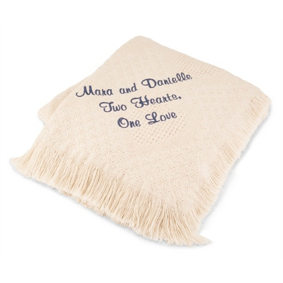 White Wedding Throws