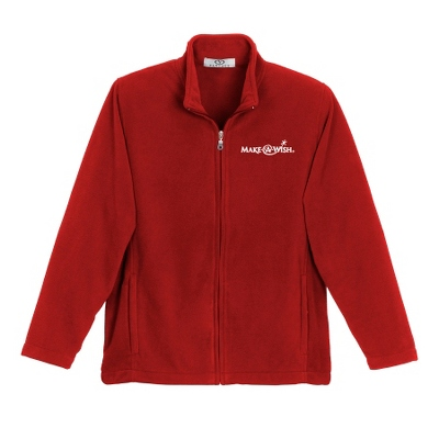 Sport Red Fleece Zip Jacket