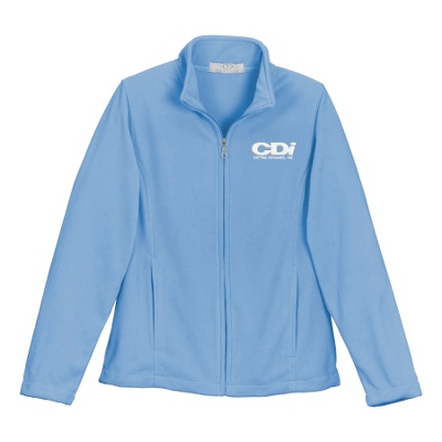 Light Blue Fleece Zip Jacket - UPC 825008358836