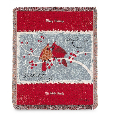Berry Merry Christmas Throw - UPC 825008359345