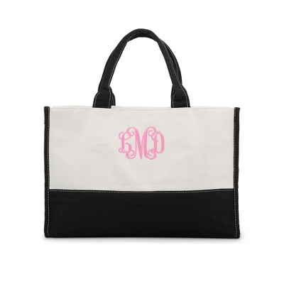 Embroidered Cotton Canvas Tote