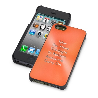 Orange iPhone 5/5S Case - UPC 825008004252