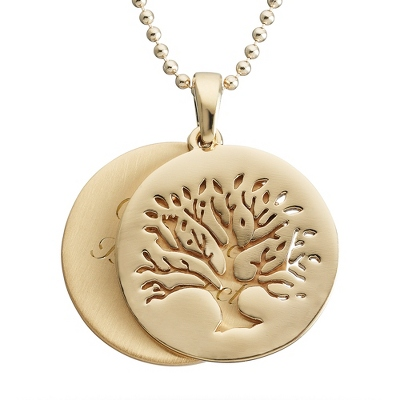 Artisan Gold Tree of Life Necklace with complimentary Filigree Keepsake Box