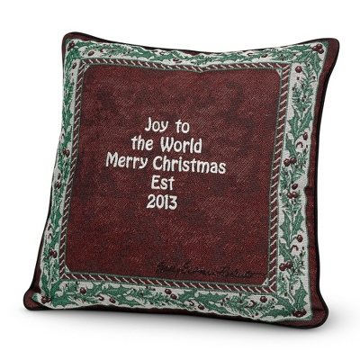 Holly Border Pillow - $24.99