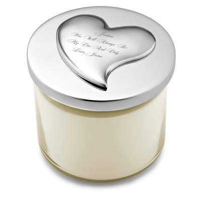 Mariposa Recycled Aluminum Love Heart Candle