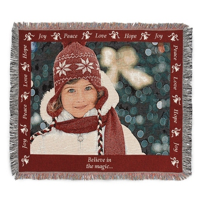 Landscape Joy Photo Throw with Red Border