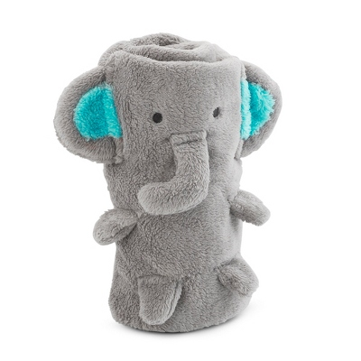 Personalized Plush Baby Blanket Elephant