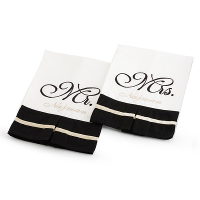 Mr. & Mrs. Set of 2 Towels - Home Accents