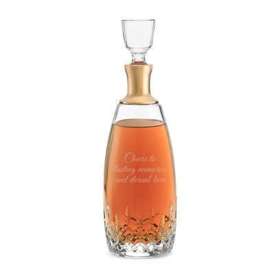 Waterford Lismore Essence Wide Gold Band Decanter - $350.00