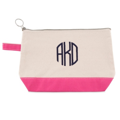 Natural and Pink Cosmetic Bag