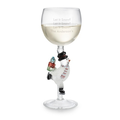 Snowman Wine Glass - UPC 825008007437