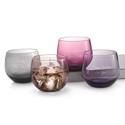 Color Blown Glassware for Wedding
