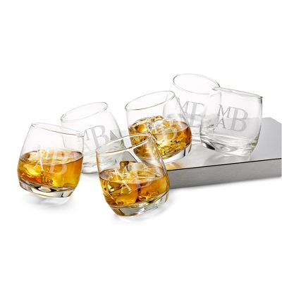 Rocking Tumbler Set of 6 Glasses - Signature Wedding