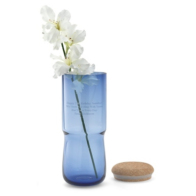 Personalized Blue Vase