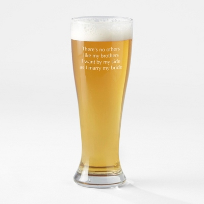 Engraved Pilsner Beer Glass - Signature Wedding