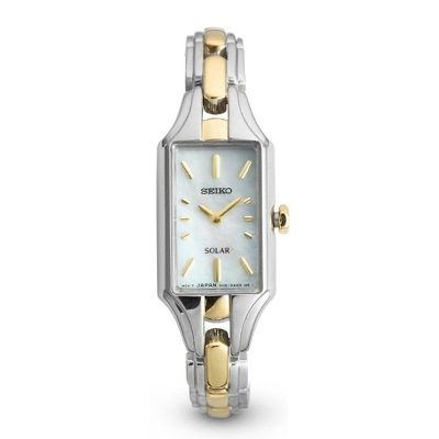 Ladies Seiko Solar Two Tone Watch - UPC 825008008366
