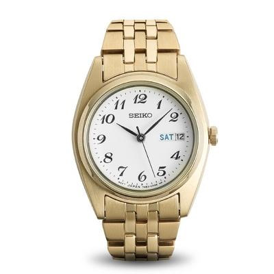 Ladies Seiko Gold Tone Watch - UPC 825008008373