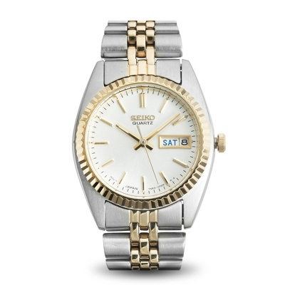 Ladies Seiko Functional Two Tone Watch - 1st Anniversary Gifts