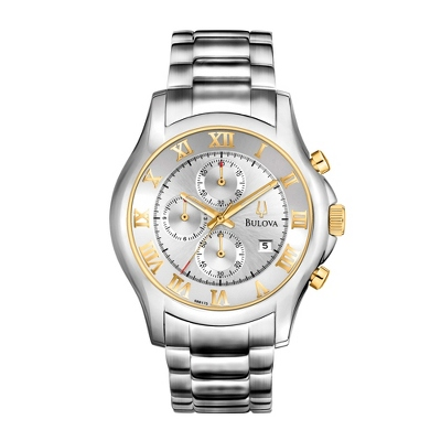 Men's Bulova Silver & Gold Dress Watch 98B175 - $375.00
