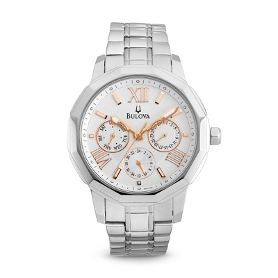Ladies Bulova Two Tone Chronograph Watch 96N103 - UPC 42429501904