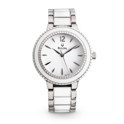 Ladies Bulova White Casual Watch 98L172 - UPC 42429501195
