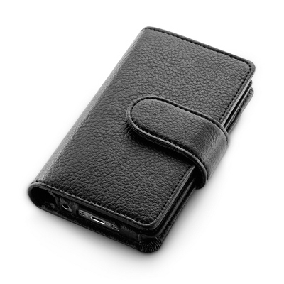 Black Pebble Grain iPhone 5 Wallet - UPC 825008008793