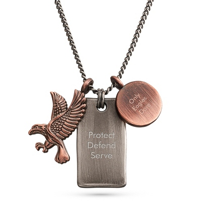 Eagle Pendant with complimentary Tri Tone Valet Box