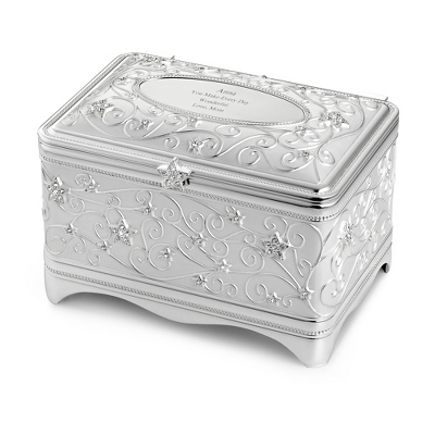 Personalized Silver Music Box