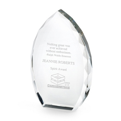 Glass Trophy Point - Awards & Plaques