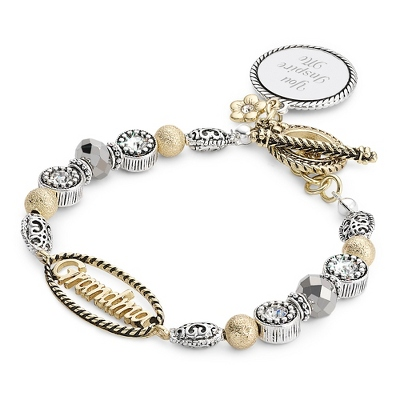 Engravable Locket Bracelet