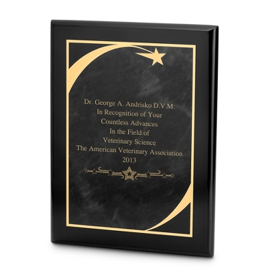 9x12 Black Star Plaque - $55.00