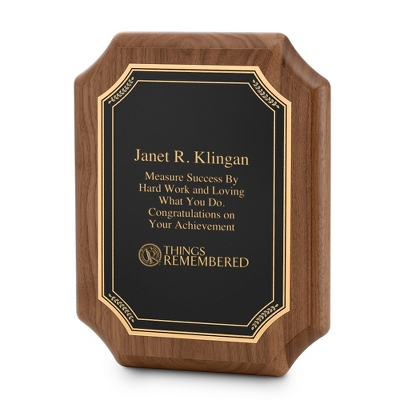 Gold Plaque Engraving