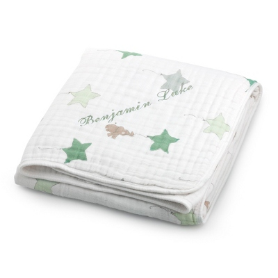 Cotton Personalized Baby Blankets