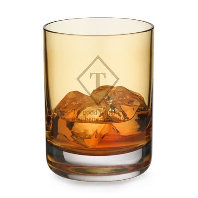 Amber Double Old Fashioned Glass - UPC 825008014152