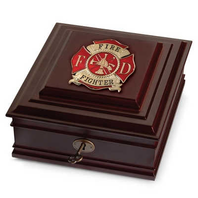 Fire Fighter Medallion Desktop Box