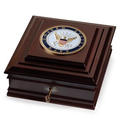 United States Navy Medallion Desktop Box - $70.00