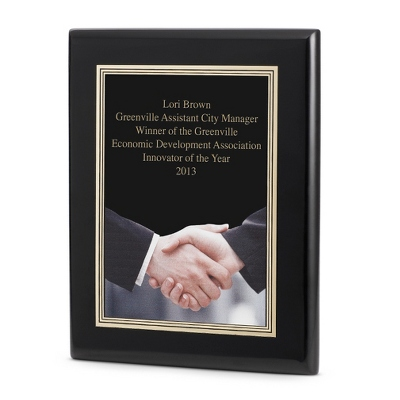 Acknowledgment Achievement Plaque with Black Base