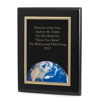 World Achievement Plaque with Black Base