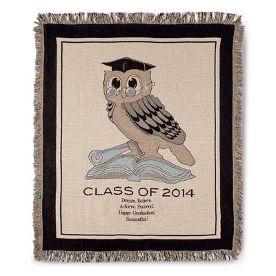 2014 Owl Graduation Throw - College