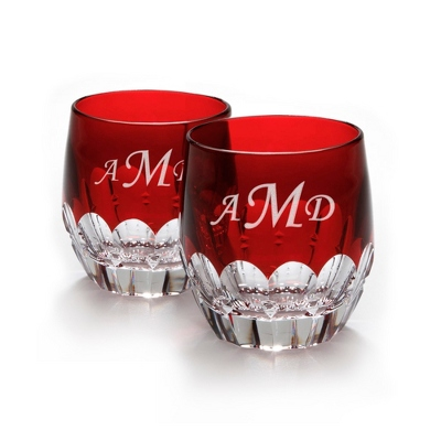Waterford Mixology Set of 2 Red Tumblers - Barware & Accessories