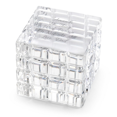 Personalized Crystal Cube - 4 products