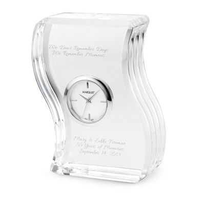 Marquis by Waterford Wave Clock - UPC 825008015470